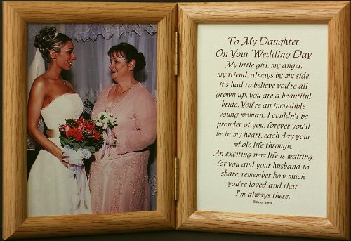 5x7 Hinged TO MY DAUGHTER ON YOUR WEDDING DAY Poem Light Medium Picture