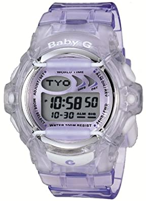 Casio Women's BG169-6V Baby-G Purple Jelly Shock Resistant Sports Watch