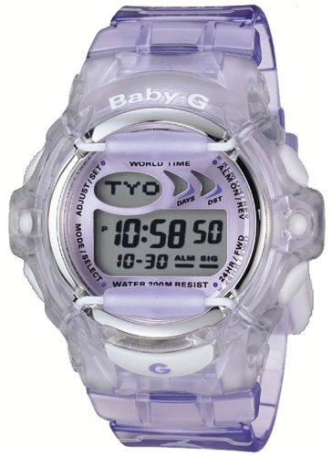 Casio Women's Baby-G Purple Jelly Shock Resistant Sports Watch #BG169-6V