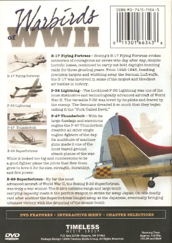 Warbirds of WWII: B-17 Flying Fortress, P-38 Lightning, P-47 Thunderbolt, B-29 Superfortress