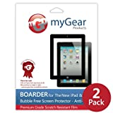 myGear Products SunBlock Screen Protector Films for Apple iPad 2 & The new iPad 3 3rd Generation - (2-Pack) Anti-Glare NEWEST MODEL & FREE SHIPPING ~ myGear Products