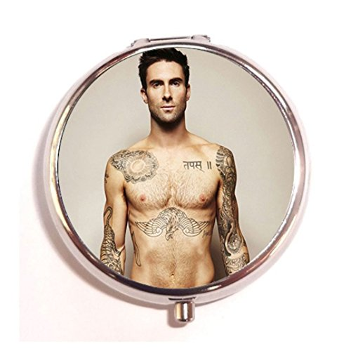 Adam-Levine-design-custom-Unique-Tone-Round-Pill-Box-Medicine-Tablet-Organizer-or-Coin-Purse