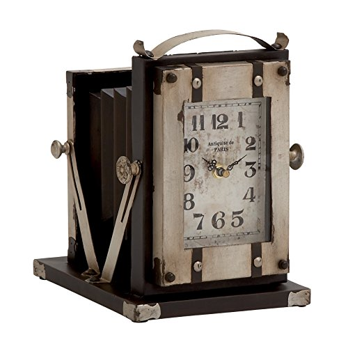Benzara Vintage Styled Buckingham Fancy Metal Table Clock