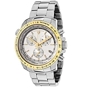 Mens 10013-22S-GB World Timer Collection Chronograph Stainless Steel Watch