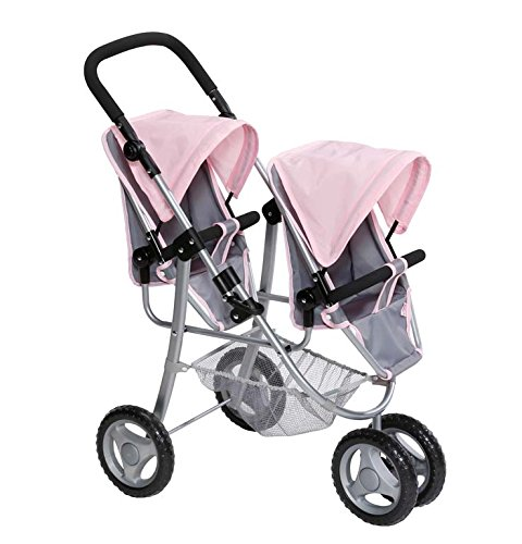 baby born twin jogger double buggy girls doll pushchair. Black Bedroom Furniture Sets. Home Design Ideas