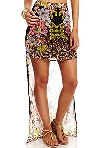 2b by bebe Women's Floral Rebellion Cyber Skirt