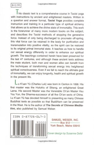Taoist Yoga: Alchemy and Immortality (Weiser Classics)