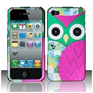 SODIAL Apple iPhone 4 and 4S Protector Case Rubberized Design Cover / Owl for AT&T, Verizon and Sprint