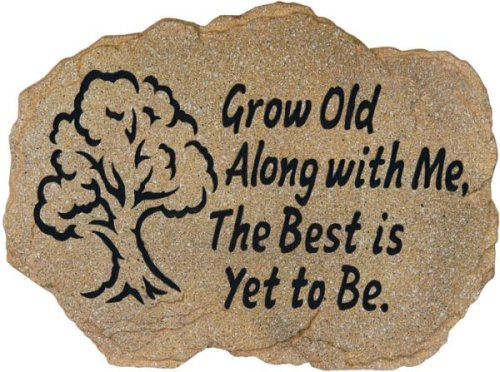 Grow Old With Me Stepping Stone/Plaque with Wrought Iron Easel Stand - Buy Grow Old With Me Stepping Stone/Plaque with Wrought Iron Easel Stand - Purchase Grow Old With Me Stepping Stone/Plaque with Wrought Iron Easel Stand (In the Garden and More, Home & Garden,Categories,Patio Lawn & Garden,Outdoor Decor)