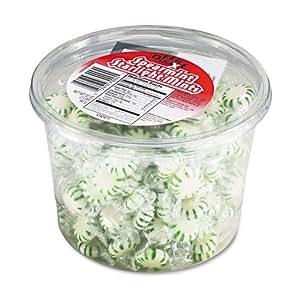 Starlight Mints, Spearmint Hard Candy, Indv Wrapped, 2lb Tub