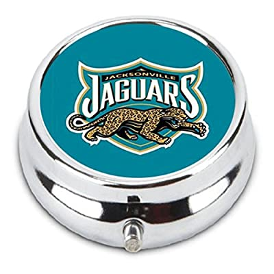 Jacksonville JAGUARS Custom Fashion Pill Box Medicine Tablet Holder Organizer Case for Pocket or Purse