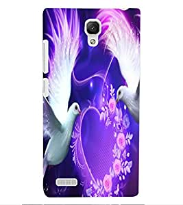 ColourCraft Lovely Pigeons Design Back Case Cover for XIAOMI REDMI NOTE