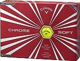 Callaway(キャロウェイ) CHROME SOFT ゴルフボール(1ダース12個入り)2016年モデルボールカラーイエロー ユニセックス 6421353120044 イエロー