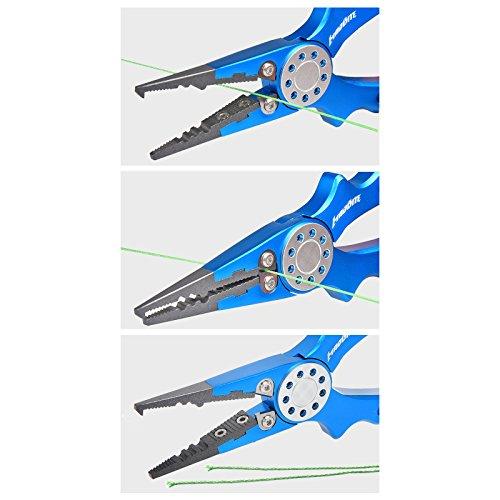 Madbite stainless steel fishing pliers braid cutters split for Split ring pliers fishing