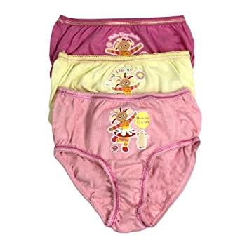 In the Night Garden Culotte | Upsy Daisy 3 Pack Sous-Vêtements |Age 3 to 4 Ans