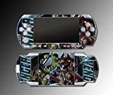 Avengers 2 Iron Man Captain America Hulk Thor Spider Thanos Loki 3 Video Game Vinyl Decal Skin Protector Cover Kit for Sony PSP 1000 Playstation Portable