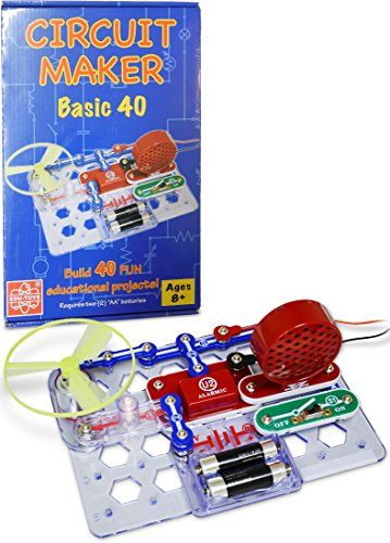 Elenco  Circuit Maker 40 Basic Electronics Discovery Kit (Electronic Maker compare prices)
