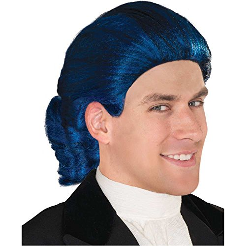 Blue Colonial Man Wig - One Size