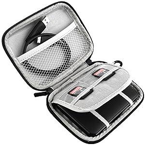 Lacdo Waterproof Hard EVA Shockproof Carrying Case for Seagate Backup Plus Slim, Toshiba Canvio Basics, Canvio Connect, Canvio Slim II 2.5-Inch Portable External Hard Disk Drive - Blue