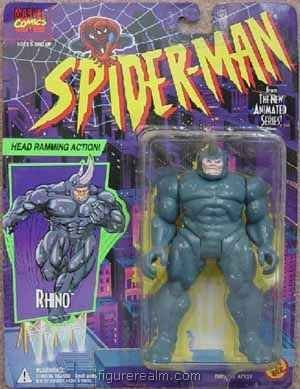 Spider-Man TAS Head Ramming Rhino action Figure - 1