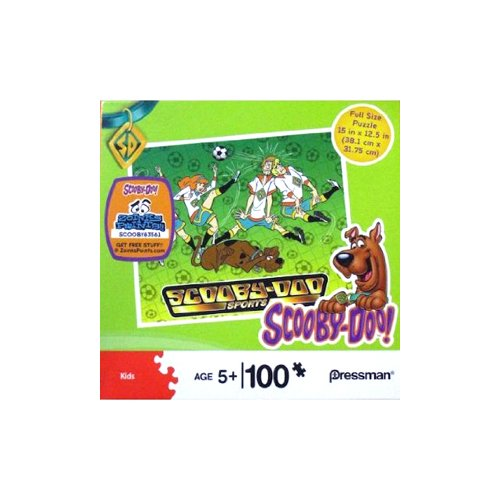 Scooby-Doo and the Gang Playing Soccer 100 Piece Puzzle - 10523
