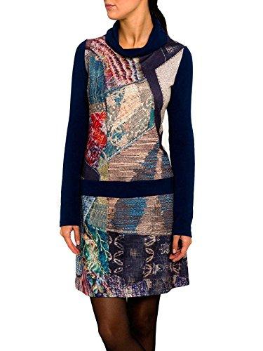 Smash Andromeda Vestido Con Cuello Alto-A1682323, Vestaglia Donna, Blu, XL