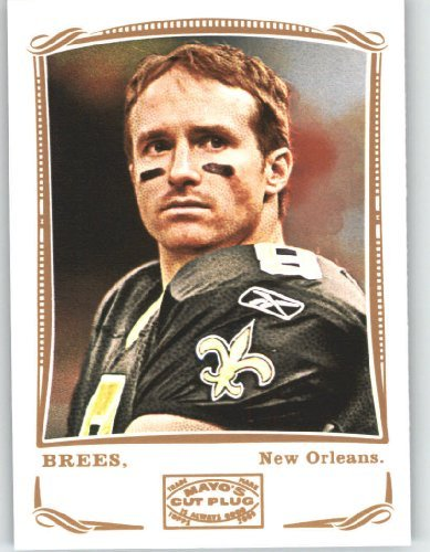 Drew Brees - New Orleans Saints - 2009 Topps Mayo Football Card # 80 / NFL Trading Card in Screwdown Case! худи print bar new orleans saints