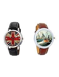 Gledati Men's Multicolor Dial And Foster's Women's Multicolor Dial Analog Watch Combo_ADCOMB0001894