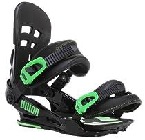 Union Flite Pro Snowboard Bindings Black/Green Mens Sz L/XL (10.5-14)