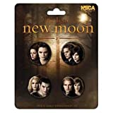 Twilight New Moon Pin Set - 4 x 1.1 Inch Diameter Badges - The Cullen's