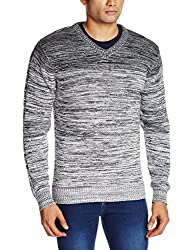 Flying Machine Men's Synthetic Sweater (8907259129419_FMSW4237_Large_Grey)