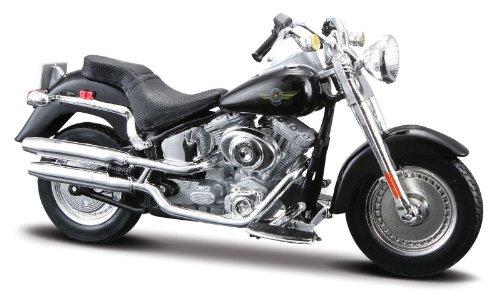 Imagen principal de 2004 Harley Davidson FLSTFI Fat Boy [Maisto 34360-29], Negro, 1:18 Die Cast