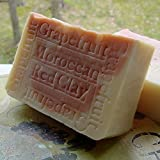 Handmade Soap -South African Grapefruit with Moroccan Red Clay and Tangerine Butter 7-ounce ~ Natural Handcrafted...