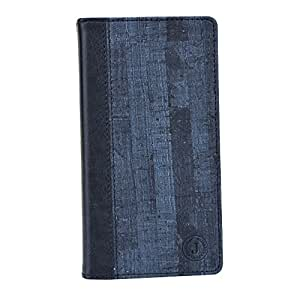 Jo Jo Cover Bark Series Leather Pouch Flip Case For Intex Aqua Star L Dark Blue