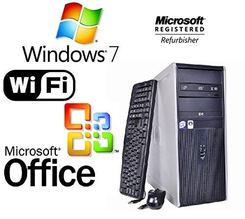 HP DC7800 INTEL DUAL CORE 2 DUO TOWER 8GB RAM 500GB HDD WINDOWS 7 WIFI DESKTOP + MS OFFICE