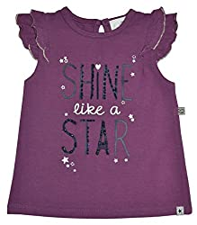 Baby Girl Top with cap sleeve & Print, 95% Cotton 5% Elasthan (to fit height 74-80cms)