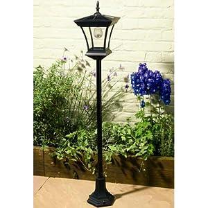 3m outdoor solar garden lamp post lamppost light