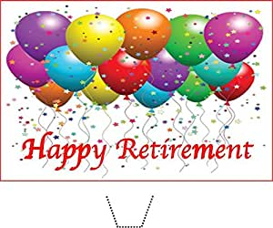 12 x Novelty Happy Retirement Bright Edible Standup Wafer ...