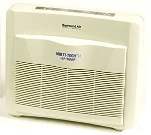 Surround Air Multi Tech II XJ-3000D Air Purifier with HEPA/Carbon/Pre-Filter and Germicidal UV lamp