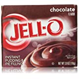 JELL-O Instant Pudding and Pie Filling, Chocolate, 3.9 Ounce (Pack of 4)