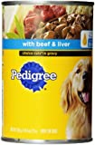 PEDIGREE CHOICE CUTS in Gravy With Beef and Liver Canned Dog Food 22 Ounces (Pack of 12)