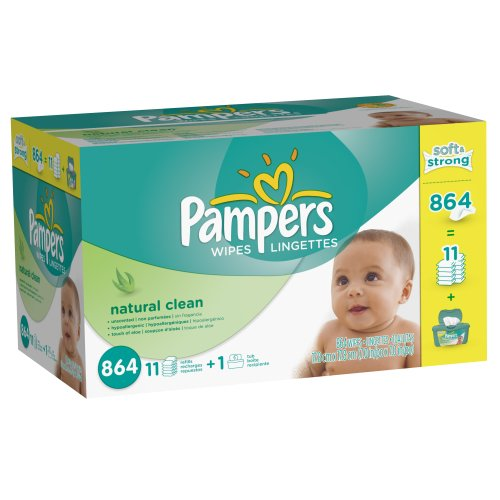 Pampers Natural Clean Wipes Count