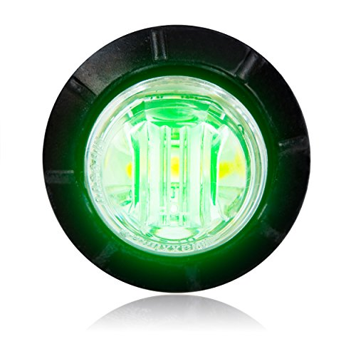 "Maxxima M09300G Green 3/4"" Round Led Courtesy Marker Light"