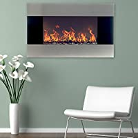 Northwest 80-EF421S Electric Fireplace with Wall Mount and Remote, Stainless Steel from Northwest