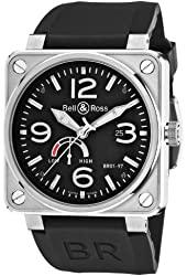 Bell & Ross Men's BR-01-97-POWER RESERVE Aviation Black Power Reserve Dial Watch