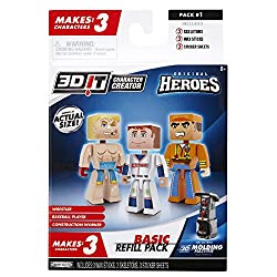 3D Character Creator City Heroes Style 1 Basic Refill Pack Novelty Toy
