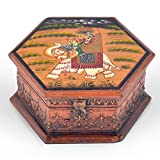 Littlethings4u Hand Painted Octagonal Wooden Art Jewelry Box 261