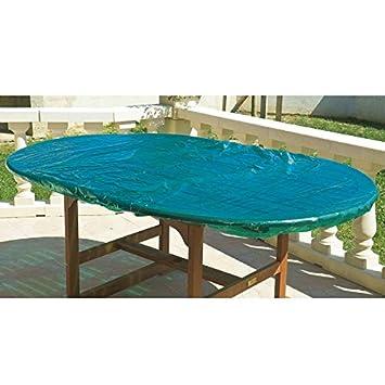 Maillesacjp0133 houssehoussepourplateaudetableovale for Housse table de jardin ovale
