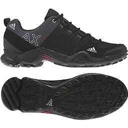adidas Outdoor AX2 Hiking Shoe - Men\'s Midnight Grey/Black/Solar Yellow 11