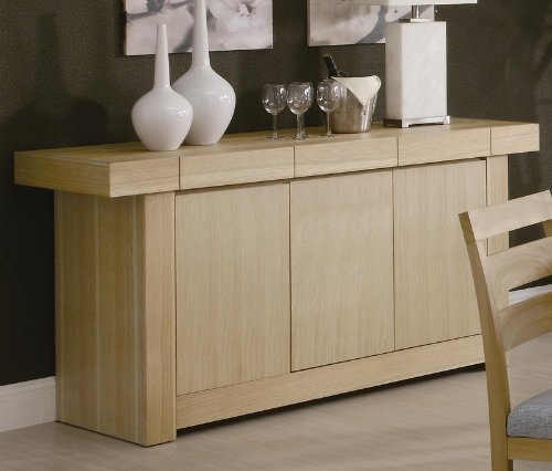 Cheap Server Sideboard with Spacious Top in Light Ash Finish (VF_AZ00-84693×36973)